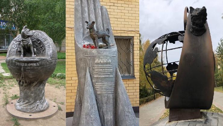Памятникам собакам-космонавтам