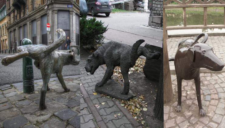 памятники писающим собакам
