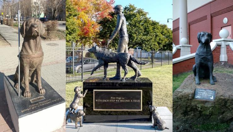 памятники собакам-поводырям